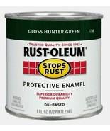 Rust-Oleum GLOSS HUNTER GREEN 0.5 pt. Stops Rust PROTECTIVE ENAMEL 7738-... - $11.99
