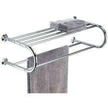 Wall Mount Chrome Finish Towel Hang Bars Stylish Modern Bathroom Rack - $12.43