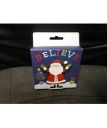 "Christmas Cardboard Gift Card Holder - Believe Santa 4"" X 4"" X 1""  - $5.89"