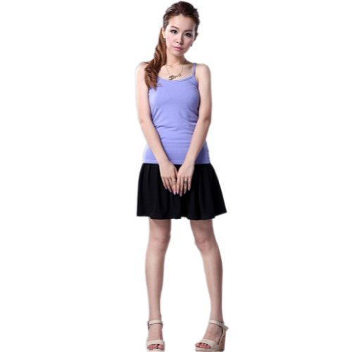 Super Soft Active Sports Shaping Tank Top Strappy Scoop Neck Camisoles Purple