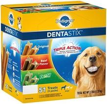PEDIGREE DENTASTIX Large Dog Dental Care Treats Original, Beef & Fresh Variety P