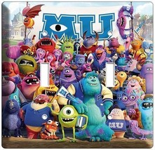 Monsters Inc University Mike Sully Double Light Switch Cover Kids Room Decor Art - $9.71
