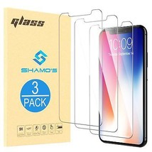 For iPhone XR [3 Pack] Screen Protector Tempered Glass Protector Film by... - $7.57