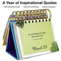 Motivational & Inspirational Perpetual Daily Flip Calendar with Self-Standing Ea image 3