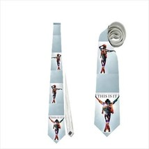 Necktie MJ Michael Jackson king of pop this is it musician singer vocal ... - $22.00