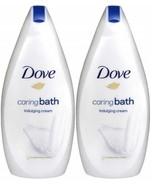 Dove Caring Bath Indulging Cream Body Wash 16.9 Oz / 500 ML (Pack of 2) - $14.99