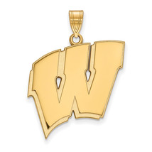14ky LogoArt University of Wisconsin XL Pendant - $713.00