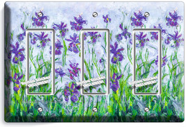 Lilac Irises Claude Monet Painting 3 Gfci Switch Outlet Wallplate Room Art Decor - $16.19