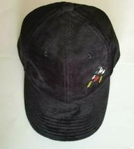 NEW Disney Parks Black Velveteen Mickey Mouse Baseball Cap Hat Adult Size WDW - $14.99
