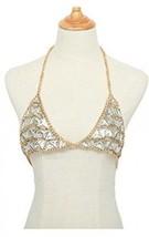 MineSign Fashion Sexy Chain Necklace Bra Summer Body Jewelry Accessorie... - $37.92