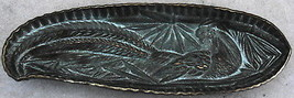 Virginia Metalcrafters Pheasant Brass Cock VCM Arts & Crafts Bamboo Tray... - $50.00