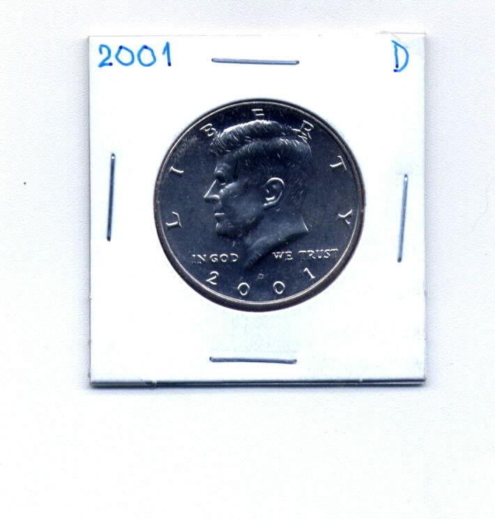 2001-D JOHN F KENNEDY HALF DOLLAR Uncirculated - $5.00