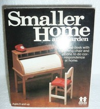 Vintage Tomy Smaller Home and Garden Roll Top Desk W/ Chair Phone W/ Box... - $14.50