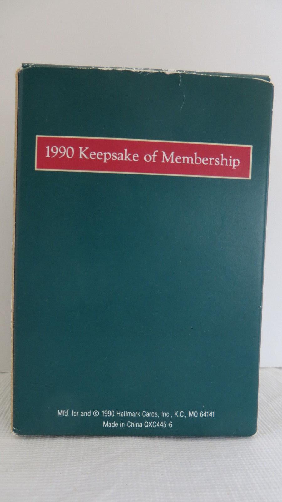 Christmas Hallmark Keepsake 1990 Club Hollow Ornament #2