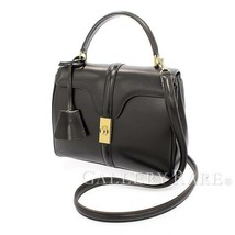 CELINE Seize 16 Small Calf Black Handbag Shoulder Bag 188003 Authentic 5... - $3,226.23