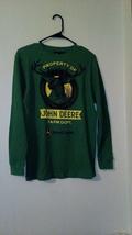 boys john deere green long sleeve shirt size largeras1140 - $14.84