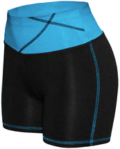 Women's W Sport Two Tone Athletic Work Out Fitness Stretch Gym Shorts AP-4815 image 9