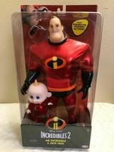 "Disney Pixar Incredibles 2 "" Mr.Incredible & JACK-JACK "" Set Of 2 Doll New - $32.33"