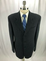 Armani Collezioni Men's Blue Wool Blazer Jacket Sport Coat 40R - $79.97