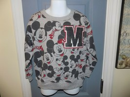 Disney Mickey Mouse Faces Gray Long Sleeve Sweatshirt Size 4T Boy's NWOT - $25.00