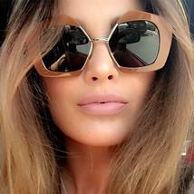 2017 Fashion Designer Geometric Pentagonal Half Frame Clear Lens Sunglasses - $12.95