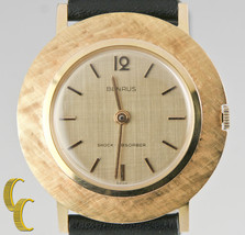 Benrus Men's Gold-Plated Hand-Winding Shock Abs... - $569.24