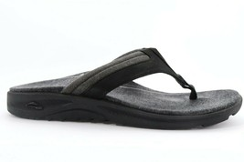 Abeo Hobson Sandals Black  Men's Size US 12 Neutral footbed (EP)4271 - $65.00