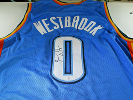 RUSSELL WESTBROOK / OKC THUNDER / HAND SIGNED CUSTOM BASKETBALL JERSEY /... - $168.25