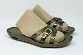 Cole Haan Size 10.5 B Air Brown Leather Flip Flop Women's Sandals Open Toe - $24.93