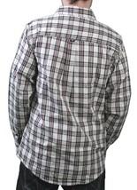 Orisue Charleston Cream Long Sleeve Woven Cotton Button Up Down Plaid Shirt NWT image 2