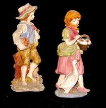 Figurines (Boy and Girl) AA18 - 1106 Vintage Pair image 3