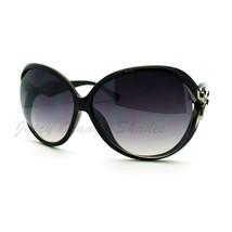 Bow Ribbon Design Women's Oversized Round Sunglasses - $7.95