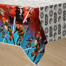Star Wars Rebels Plastic Table Cover Birthday Party Supplies 1 Per Packa... - $6.44