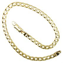 """SOLID 18K GOLD GOURMETTE CUBAN CURB LINKS BRACELET 4mm, STRONG BRIGHT, 8.3"""" image 4"""