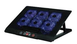 Laptop Cool 6 Fans Controllable Pad with Blue LED Light and 2 USB ports ... - €0,29 EUR