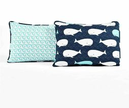 Lush Decor Whale Kids Quilt Reversible 5 Piece Bedding Set with Sham and Decorat image 3