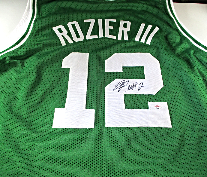 TERRY ROZIER III / AUTOGRAPHED BOSTON CELTICS CUSTOM BASKETBALL JERSEY / COA