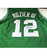 TERRY ROZIER III / AUTOGRAPHED BOSTON CELTICS CUSTOM BASKETBALL JERSEY / COA - $98.95