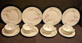 Johann Haviland Bavaria Demitasse 4 Cups Saucers Dessert Plate 12pc Adult Child - $34.65
