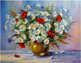 "Flower Vase 16X20"" Paint By Number Kit DIY Acrylic Painting on Canvas Un... - $8.90"