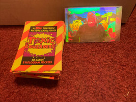 Toxic Crusaders 1991 Topps Complete Base Card Set Of 88 + 7 Of 8 Rare Holograms - $46.74