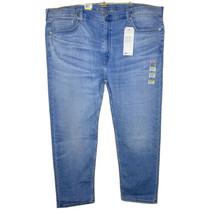Levi's 502 Mens 46 Big & Tall Jeans Blue Denim Regular Fit Tapered Stret... - $39.37