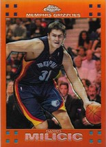 Darko Milicic Topps Chrome 07-08 #44 Orange Refractor #'d 199 Memphis Gr... - $2.50