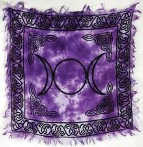 """Triple Moon Altar Cloth 18"""" x 18"""" Wicca Pagan Lunar Goddess Ceremonial R... - $7.84"""