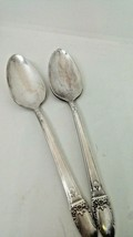 Vintage Silverplate Lot 2 FIRST LOVE Teaspoons 1847 Rogers Bros 1937  - $14.84