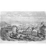 CALIFORNIA Bay of San Francisco - 1883 German Print - $21.60