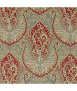 1.375 yds Highland Court Figaro Red Italian Paisley Upholstery Fabric 19... - $104.50