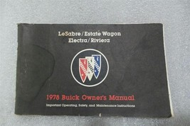 Buick Lesabre Electra Riviera Estate Wagon 1978 Owners Manual 14666 - $19.75