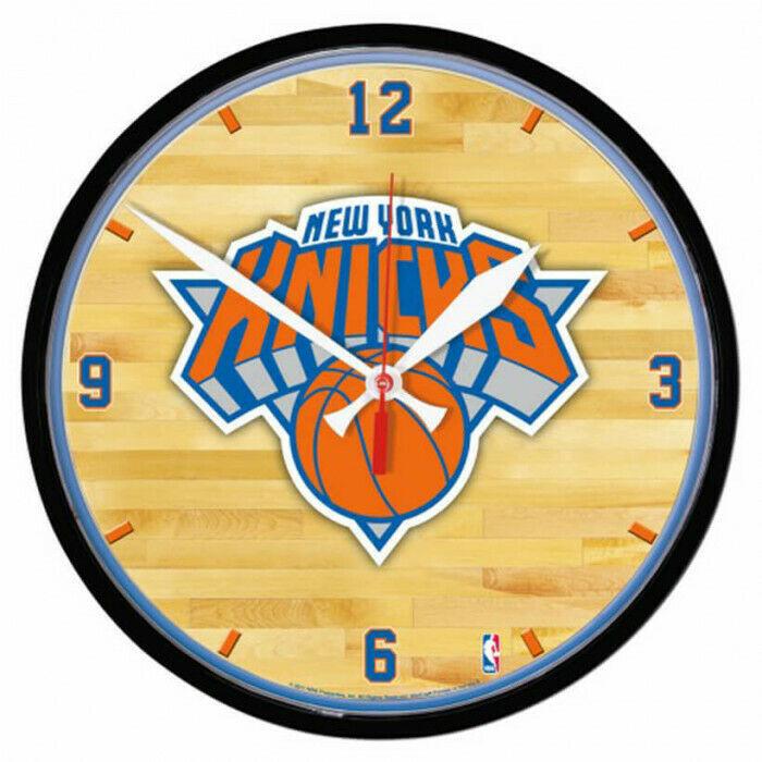 "New York Knicks Logo on 12"" Round Wall Clock by WinCraft - $36.99"