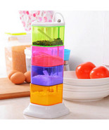 Spice Jar Four Layers Plastic Colorful Rotatable Seasoning Box Kitchen S... - $18.04